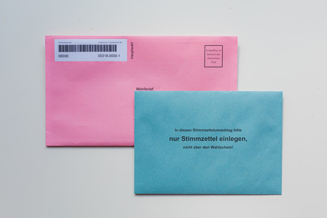 A close up of an envelope